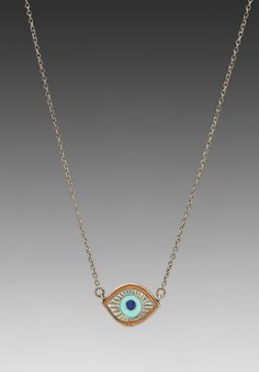 Evil Eye Necklace in Coral Mix