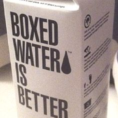 I don't see much difference between bottled or boxed water. They're both disposable convenient items, both recyclable. Boxed water seems like a silly way of saying you are against bottled water but you don't know why.