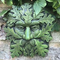 """Quercus"" green man wall plaque brand new design for Brighthelm-stone our Quercus green man is hand cast at our workshop in frost"