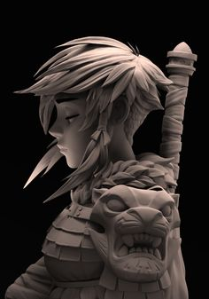"""Based on Johannes Helgeson's amazing """"Warrior"""" Sketch.done as a practice in Zb. 3d Model Character, Character Modeling, Character Concept, Character Art, Concept Art, 3d Modeling, Zbrush Character, 3d Figures, Human Figures"""