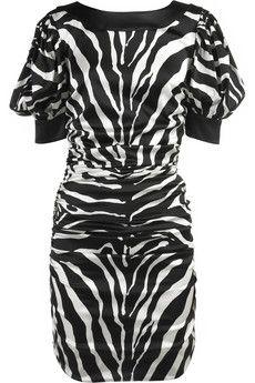 D&G Zebra-print satin dress | NET-A-PORTER