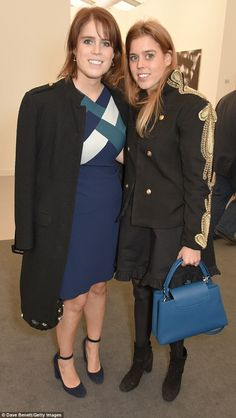 Princess Eugenie and Princess Beatrice paid a visit to the Freeze Art Fair in London on 4 Oct 2017