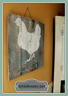 Chicken pallet art!