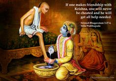 Sudama brahmana visits Krishna in Dwaraka.