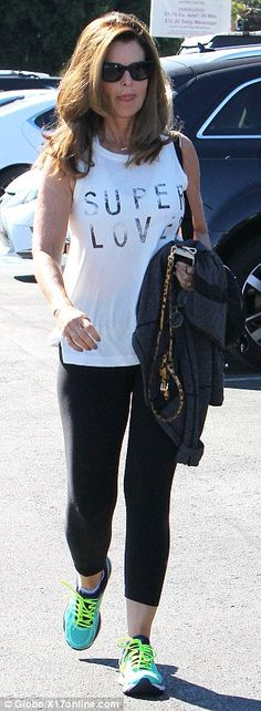 Keeping it casual: On Saturday, the journalist was photographed in sporty gear in Brentwood