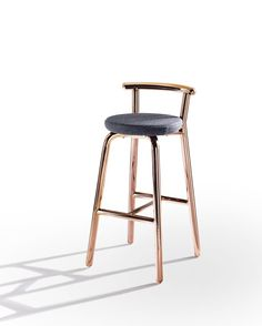 Contemporary style upholstered fabric counter stool PICKET - @derloteditions