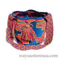 Authentic Crochet Wayuu Mochilas ~ Crossbody 11 in.H x 9 in.W ~ 21 in. strap drop  ~