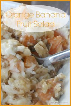 Orange Banana Fruit Salad | FOODIEaholic.com #recipe #cooking #appetizer #salad #fruit #coconut #banana #orange