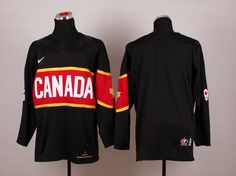 Team Canada 2014 Olympic Black Stitched NHL Jersey
