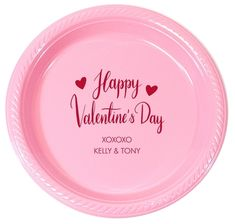 Happy Valentine's Day Plastic Plates