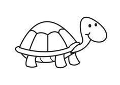Kleurplaat schildpad