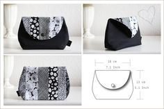armazenamento saco branco preto compõem caso de cosméticos por isntlifeamazing