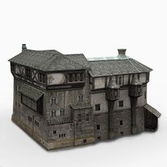 old medieval house 3d model - old Medieval House... by bemola