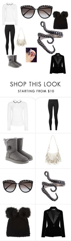 """""""Untitled #700"""" by megibson2005 on Polyvore featuring Hobbs, The Row, UGG, Yves Saint Laurent, Barneys New York and Oscar de la Renta"""