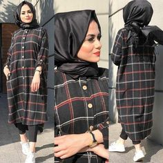 A imagem pode conter: 2 pessoas Hijab Fashion 2016, Modest Fashion Hijab, Hijab Style Dress, Modern Hijab Fashion, Street Hijab Fashion, Casual Hijab Outfit, Hijab Chic, Abaya Fashion, Muslim Fashion