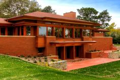 Wingspread, Herbert F. Johnson House. 1937. Wind Point, Wisconsin. Prairie Style. Frank Lloyd Wright