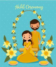 Indian Wedding Invitation Cards, Wedding Invitation Background, Wedding Invitation Card Design, Traditional Wedding Invitations, Invites, Wedding Card Design Indian, Indian Wedding Couple, Indian Wedding Cards, Wedding Couple Cartoon