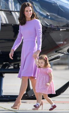 Kate and Charlotte leaving Germany after their 5 day tour - July 2017