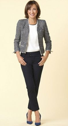 over fifty women's simple jean shirt daily combo -my fav jacket!!!