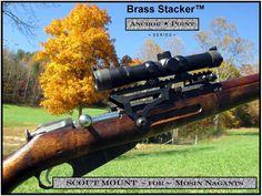 Brass Stacker See Thru Scout Scope Mount for Mosin Nagant