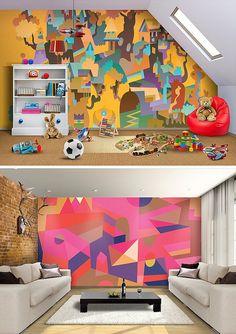 matt lyon - geometric wall painting art