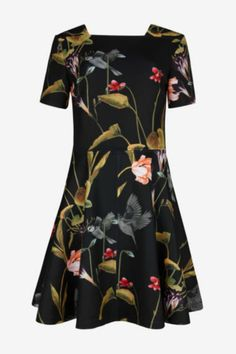 An effortlessly charming style, wear this piece with ballet flats and a tailored jacket to the office and with glittering red stilettos come nightfall. Sizes have been converted to US sizes.   Oriental Floral Dress by Ted Baker London. Clothing - Dresses - Floral Clothing - Dresses - Short Sleeve Wallingford, Connecticut