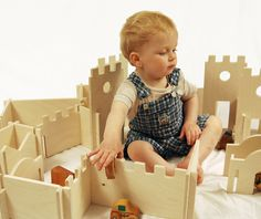 Manzanita Classic Deluxe Modular  Building Set, modular walls, montessori waldorf toy, child spatial development open ended