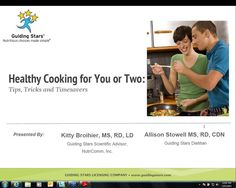Healthy Cooking for You or Two   Free 30 Minute Webinar from Guiding Stars