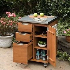 outdoor kitchen storage cart complete cabinet packages 11 best deck patio images backyard ideas lawn furniture serving montego