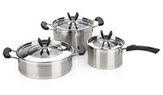 IBOS 3-piece Casio Series Stainless Steel Cookware Set