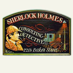 A souvenir sign available from the Sherlock Holmes Museum, London