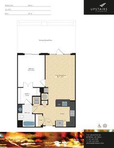 One bedroom, one bath, 711 square feet.