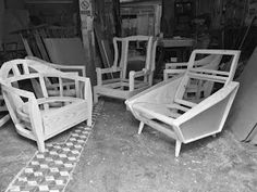 Wood Chair Design, Sofa Furniture, Sofa Set, Armchair, Living Room, Wood Projects, Home Furniture, Wood, Table And Chairs