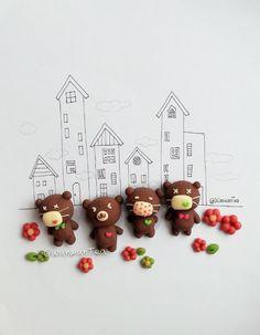 cute bear chocolate cookies