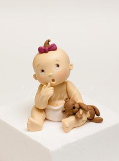 Cute baby for a cake topper on a baby shower cake