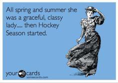 Hockey  @Melissa Willem @Michelle Villemaire   HaHaHaHaHa!   :)