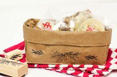 DIY Paper Bag Gift Baskets by Sarah Hearts