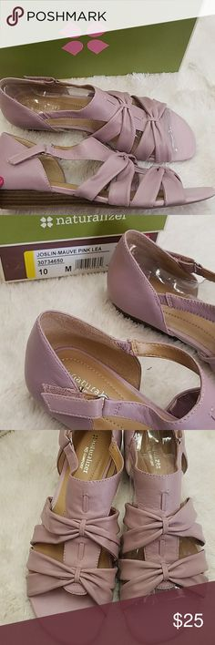 Naturalizer mauve size 10 sandals leather Up for sale is a pair of sandals with a very low 1 inch heel and Rubber Sole Naturalizer Shoes Sandals