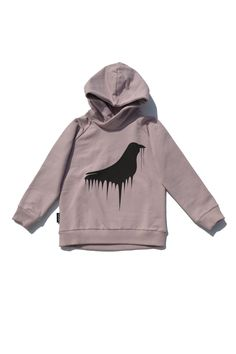 mói raven hoody in dusty rose from SS15 collection  http://moi-kidz.com