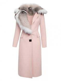Coat made of wool with fox fur trim - Clipping Source by Space Fashion, Fur Fashion, Winter Fashion Outfits, Look Fashion, Autumn Winter Fashion, Winter Coats Women, Coats For Women, Clothes For Women, Ropa Louis Vuitton