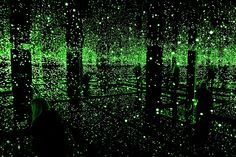 Credit: Sarah Lee for the Guardian  This is Yayoi Kusama's infinity room. We're going to talk about her today.