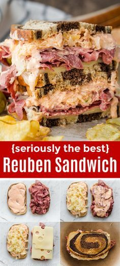 Home Remodel Plans How to Make a Reuben Sandwich with the best homemade Russian dressing - This is loaded with corned beef, sauerkraut and Russian dressing on Rye bread. One of the best grilled sandwich recipes you'll try! Corned Beef Sandwich, Best Reuben Sandwich, Grilled Sandwich Recipe, Best Sandwich Recipes, Corned Beef Recipes, Soup And Sandwich, Sandwich Sides, Grill Sandwich, Crack Crackers
