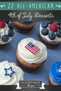 Easy Homemade Fourth of July Desserts - Hand Pies | Homemade Recipes http://homemaderecipes.com/holiday-event/22-easy-homemade-fourth-of-july-desserts-recipe