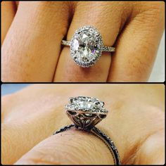 My client Freddy dropped by with his fiancé @xabcxo to work on their wedding bands and I couldn't stop looking at how beautiful her @diamondboi ™ oval modern vs vintage engagement ring is! So much wooow! #diamond #diamonds #wedding #weddings #engagement #ring #rings #bride #brides #jewellery #jewelry #oval #halo #vintage #diamondboi