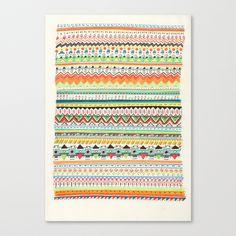 Pattern No.3 Stretched Canvas by Sandra Dieckmann | Society6