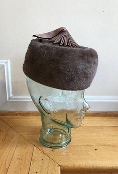 eb2cc8de877 RESERVED for Kat 1960s Mod Cloche Hat Italy Soft Wool Fur Felt ...