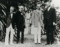 Harvey Firestone, Thomas Edison, Henry Ford, and Herbert Hoover