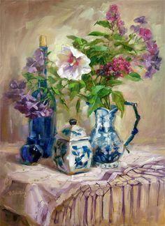 Цветочная живопись Barbara Schilling