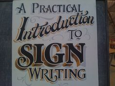 Signboard to advertise my Signwriting classes