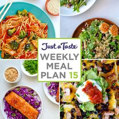 Weekly Meal Plan 15 and Shopping List